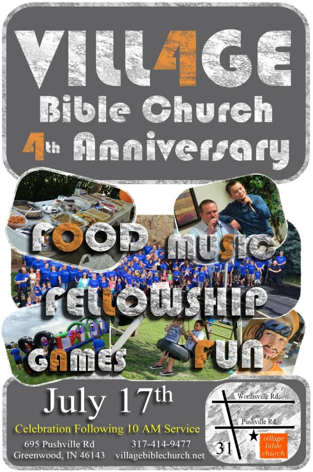 4th anniversary flyer