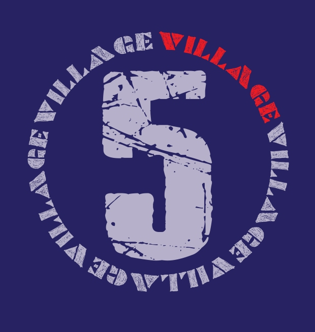 village 5 w light blue